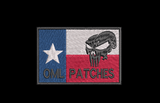 Texas Punisher Custom flag Patch