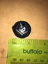 Skull with Top Hat Micro Custom Patch