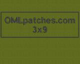 Custom 3x9 full back patch
