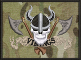Viking with crossed axes morale patch
