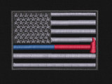 USA Red/Blue line with Axe Velcro patch
