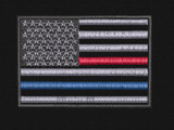 USA flag  patch with separate red and blue lines