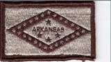 Arkansas Flag Patch tans