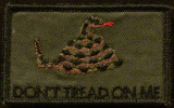 dont tread on me VELCRO® Brand patch