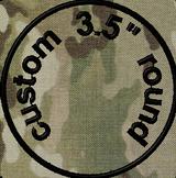 3.5in round custom VELCRO® Brand patch