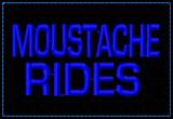 Moustache Rides Funny VELCRO® Brand Patch