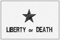 liberty or death VELCRO® Brand patch