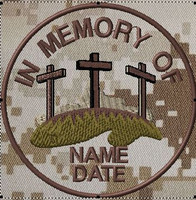 In memory of patch with crosses in DCU