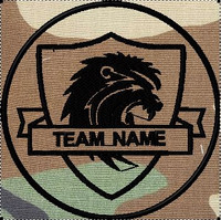 team patches lion shield woodland