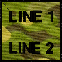 free text morale patch in multicam tropic
