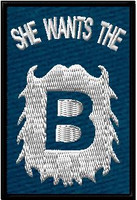 She wants the B navy patch
