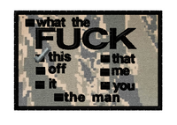 custom velcro patch:  Pick one in abu