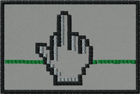 Pixel finger morale patch with grey background