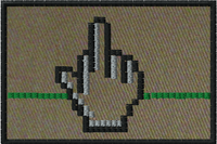 Pixel finger morale patch with OD background