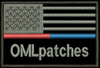 USA Red/Blue Line Custom Police/Firefighter patch