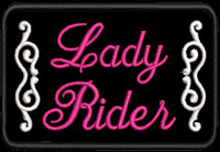Lady Rider Biker Patch