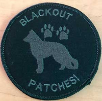 Blackout Team Template K9 Velcro patch