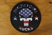 Hybrid team patch Punisher with US Flag overlay