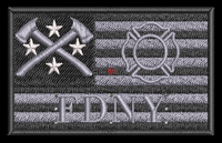 USA Custom Firefighter Flag patch