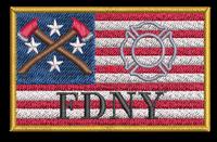 USA Firefighter Custom Velcro patch
