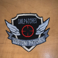 Winged Target Shield Team Patch