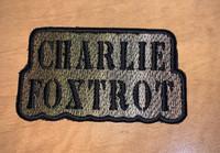 Charlie Foxtrot Multicam morale patch