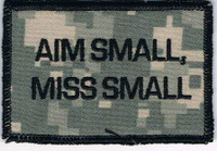 Aim Small, Miss Small Patch