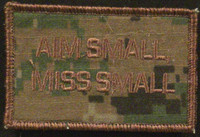 aim small miss small morale patch