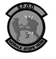 Morale Stops here 2 patch in SWAT colors
