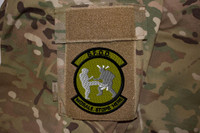 Morale Stops here 2 morale patch in OD on multicam uniform