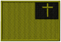 Christian Flag VELCRO® Brand Patch OD