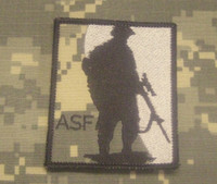 ASF camo backed patch