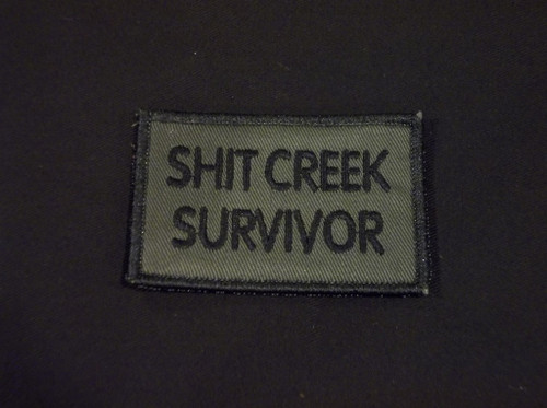shit creek survivor  morale patch