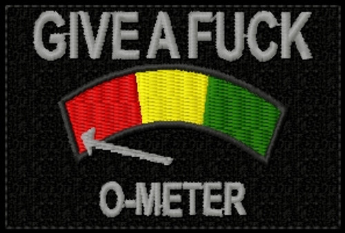 give a fuck o meter patch black