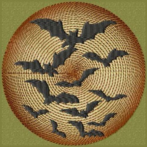 Cool bats halloween patch