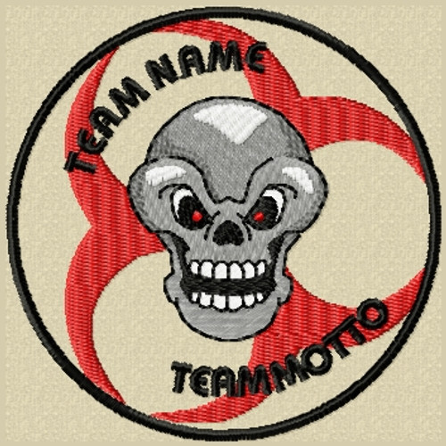 Custom Team Patch Biohazard Skull in full color