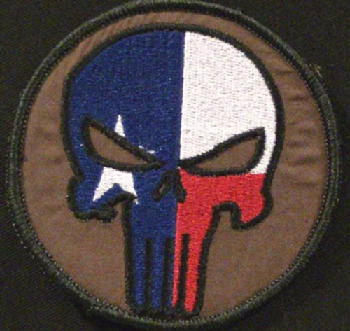 punisher texas morale patch in sheriff brown