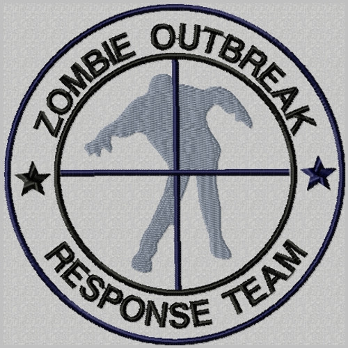 Zombie outbreak response team in silver