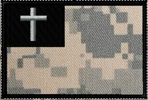 Christian Flag patch Acu