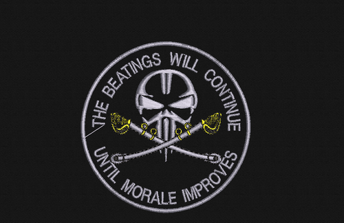 The Beatings will continue Punisher Patch