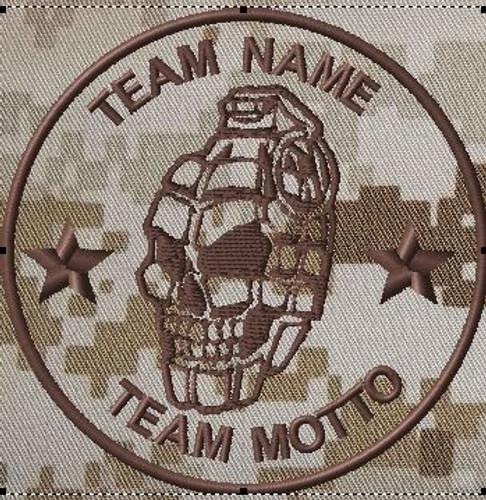 Custom Team Patch Grenade Skull