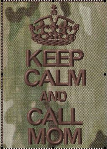 Keep Calm and Call Mom Patch