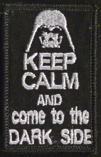 keep calm and come to the dark side VELCRO® Brand patch