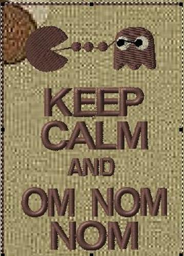 Keep Calm and Om Nom VELCRO® Brand patch