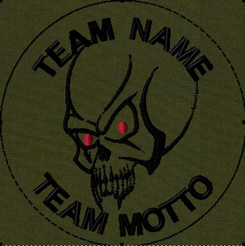 Team Template Vampire Skull VELCRO® Brand Patch