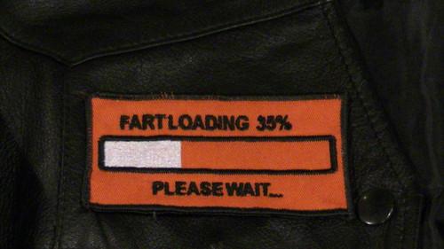 Fart Loading Biker Patch