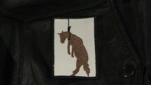 Hung Like A Horse Biker Patch