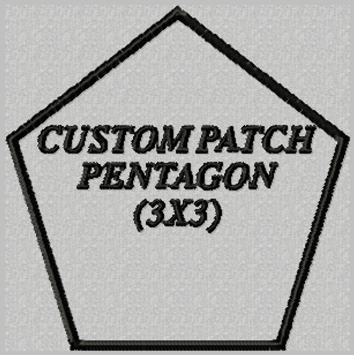 custom embroidered patch pentagon shape
