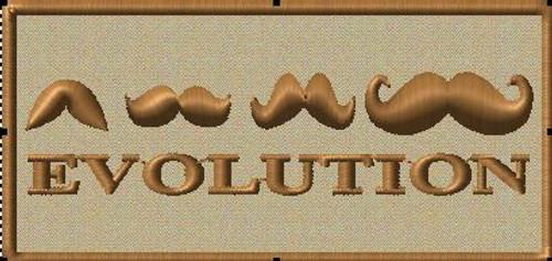 mustache VELCRO® Brand patch