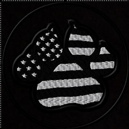 K9 Paw American Flag Sub Black